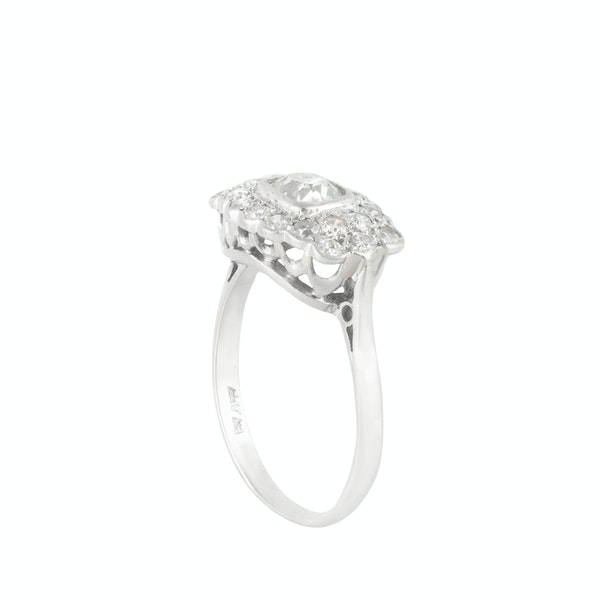 An Antique Platinum Diamond ring - image 2