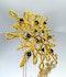 Stylised 60's Sapphire and Diamond Star Brooch/Pendant - image 5