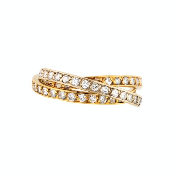 A French Gold Diamond Russian Wedding Ring - image 4