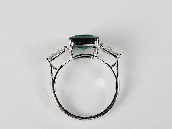 3.70ct emerald and diamond ring sku 4971 DBGEMS - image 4