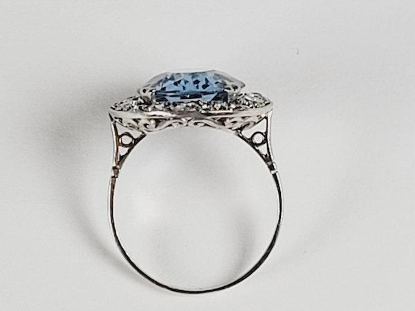 Natural Brazilian art deco blue topaz ring sku 4972 DBGEMS - image 3