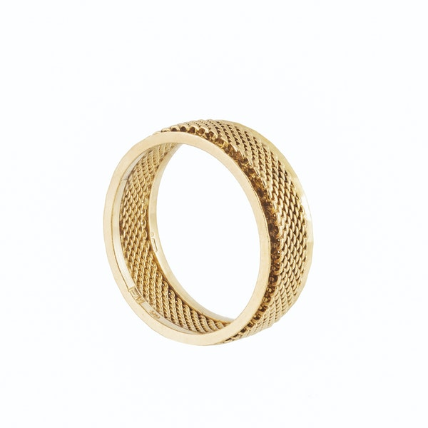 A Gold Band Ring - image 2