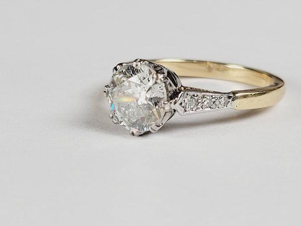 Antique 1.60ct old European transitional cut diamond engagement ring sku 4973 DBGEMS - image 2