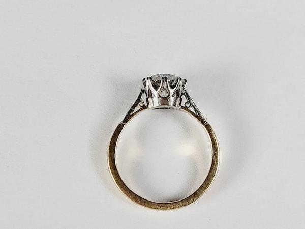 Antique 1.60ct old European transitional cut diamond engagement ring sku 4973 DBGEMS - image 3