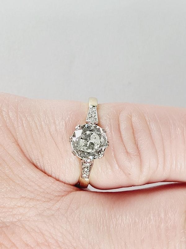 Antique 1.60ct old European transitional cut diamond engagement ring sku 4973 DBGEMS - image 4