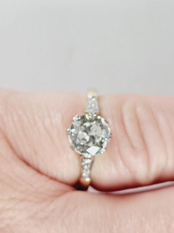 Antique 1.60ct old European transitional cut diamond engagement ring sku 4973 DBGEMS - image 5
