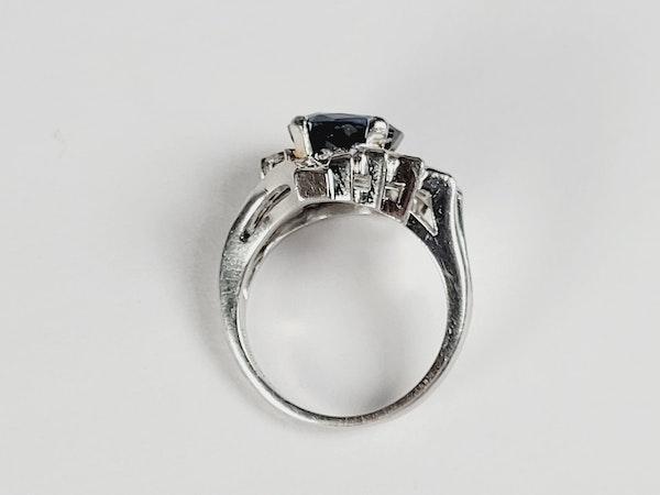 Stunning Sapphire and Diamond stylised feather ring sku 4974  DBGEMS - image 3