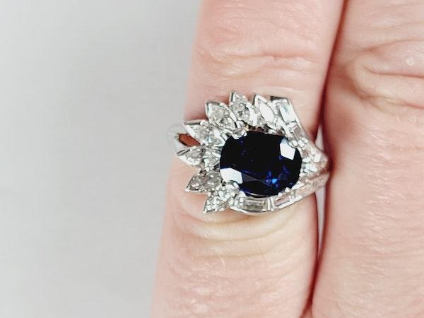 Stunning Sapphire and Diamond stylised feather ring sku 4974  DBGEMS - image 4