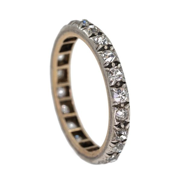 Victorian diamond full eternity ring - image 2