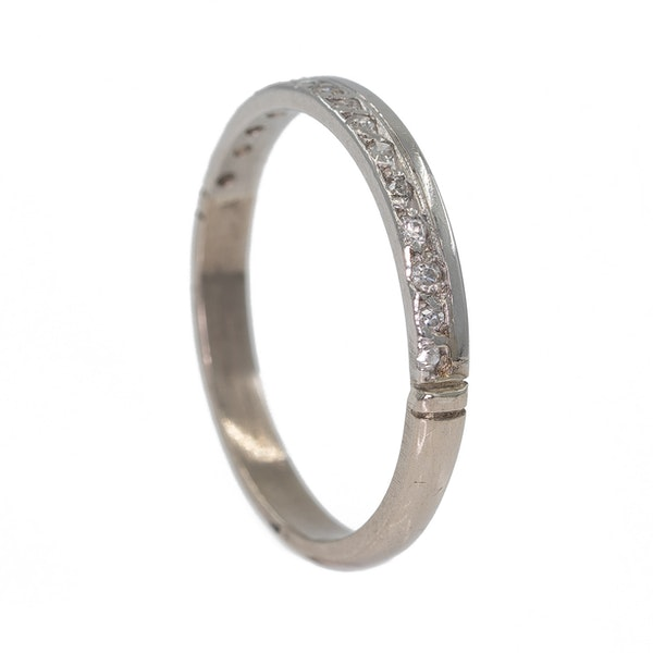 Diamond half eternity ring - image 2