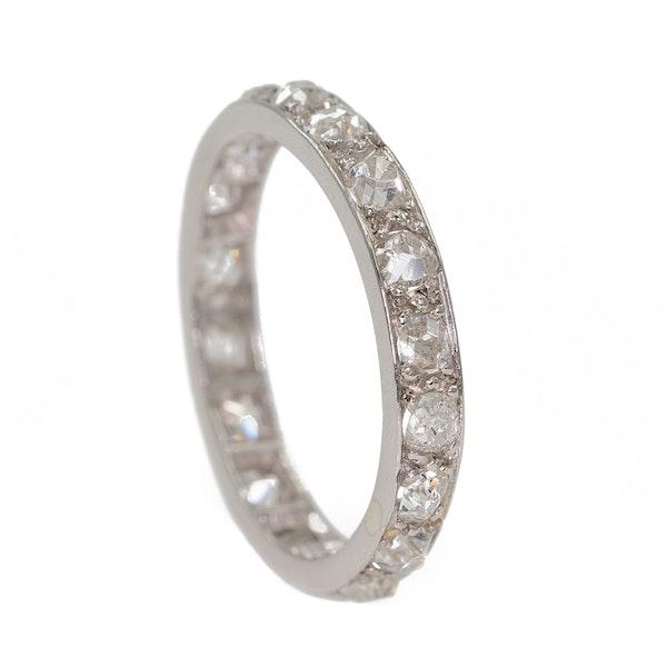 Full diamond eternity ring set in platinum - image 2