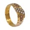 Victorian coral and pearl half hoop band ring - image 2
