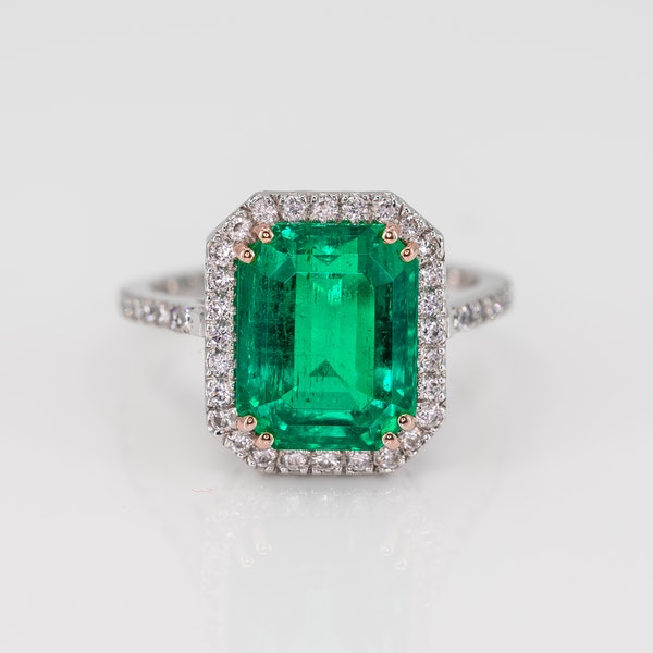 A Magnificent Emerald Dress Ring Offered by The Gilded Lily - image 3