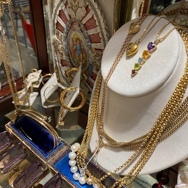 Emerald Diamond Cluster Earrings in 18ct White Gold date circa 1980, SHAPIRO & Co since1979 - image 11