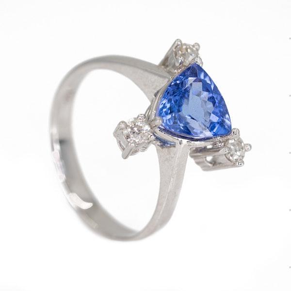 Tanzanite and diamond retro ring - image 2