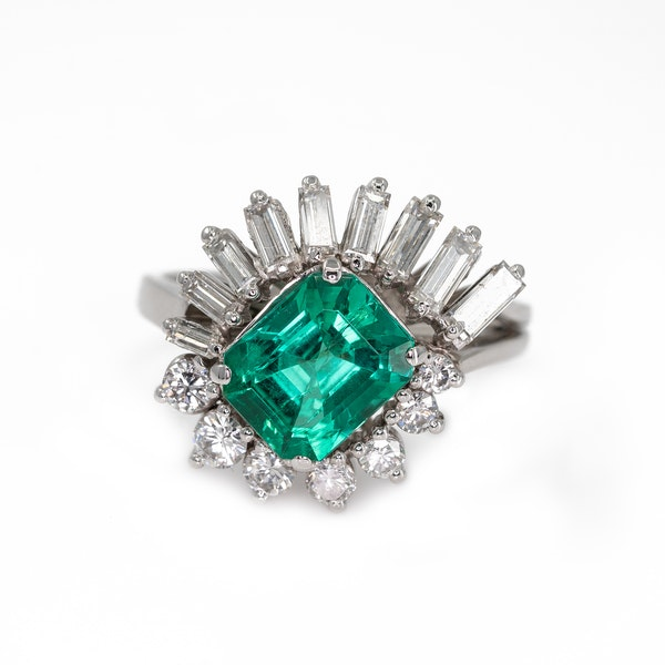 An Emerald Dress Ring Offered by The Gilded Lily - image 2