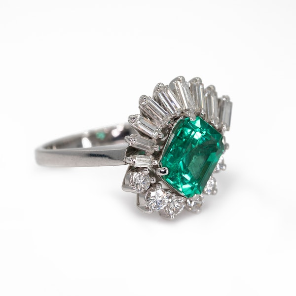 An Emerald Dress Ring Offered by The Gilded Lily - image 3