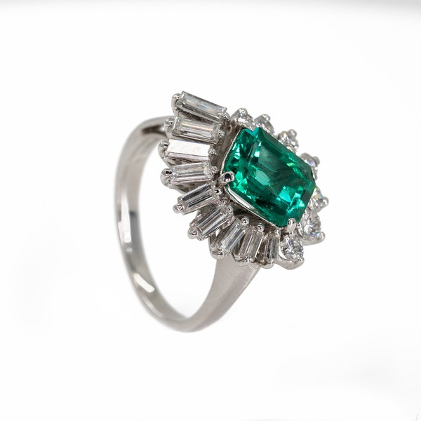An Emerald Dress Ring Offered by The Gilded Lily - image 4
