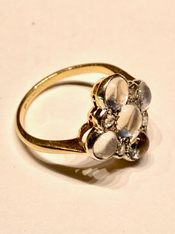 Moonstone and diamond ring. Spectrum - image 2