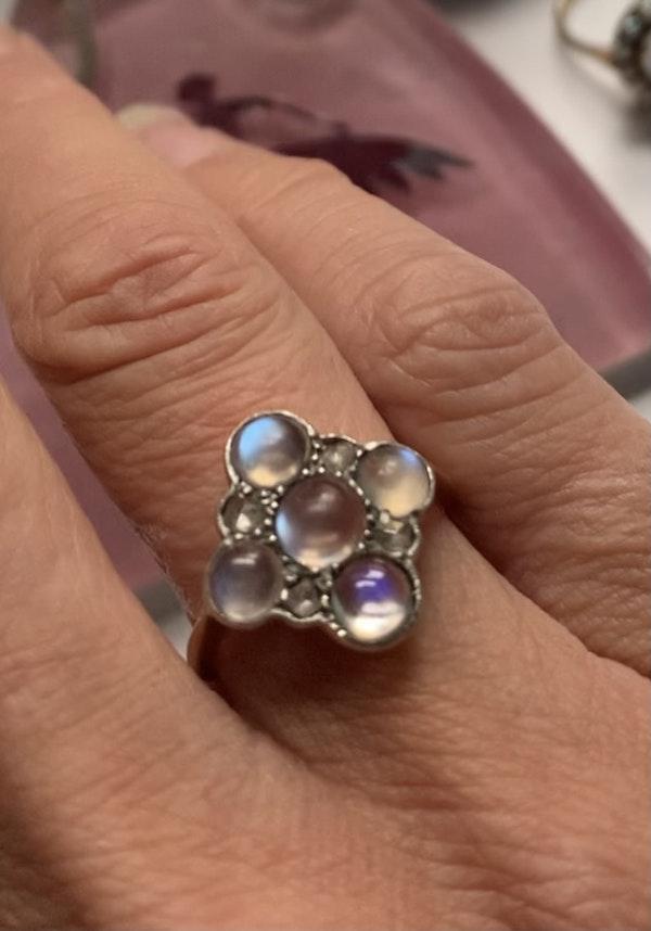 Moonstone and diamond ring. Spectrum - image 4