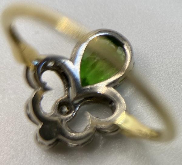 'Green Garnet' and Diamond Ring - image 2