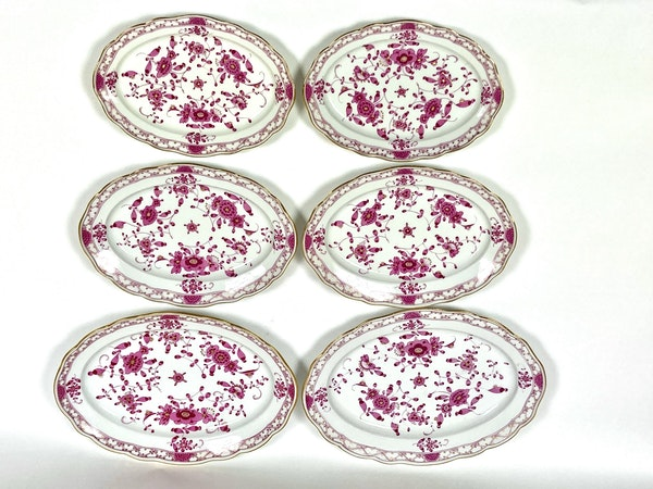 5 pairs of graduated 19th century Meissen oval platters - image 2