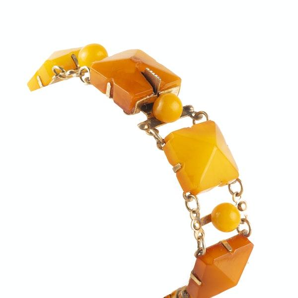 A Baltic Amber Silver bracelet - image 2