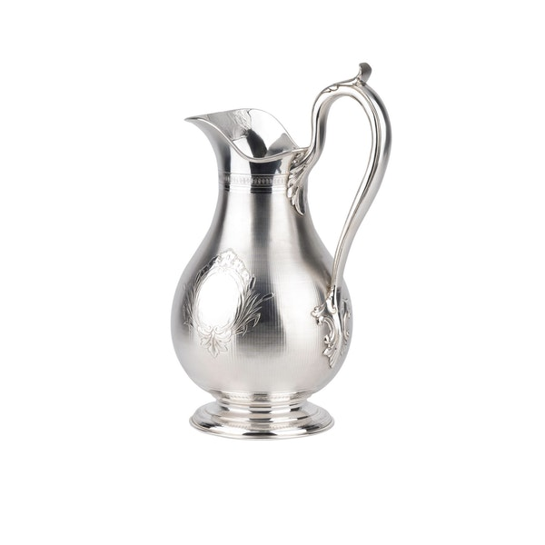 Large fine silver Jug and Bowl - image 3