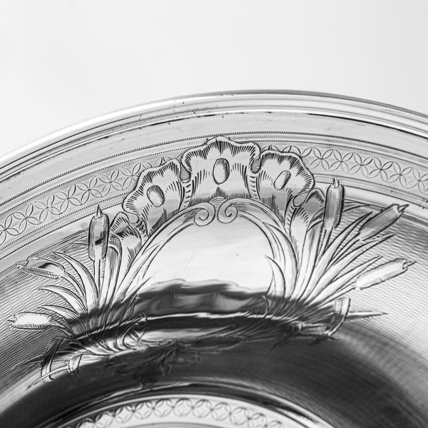 Large fine silver Jug and Bowl - image 8