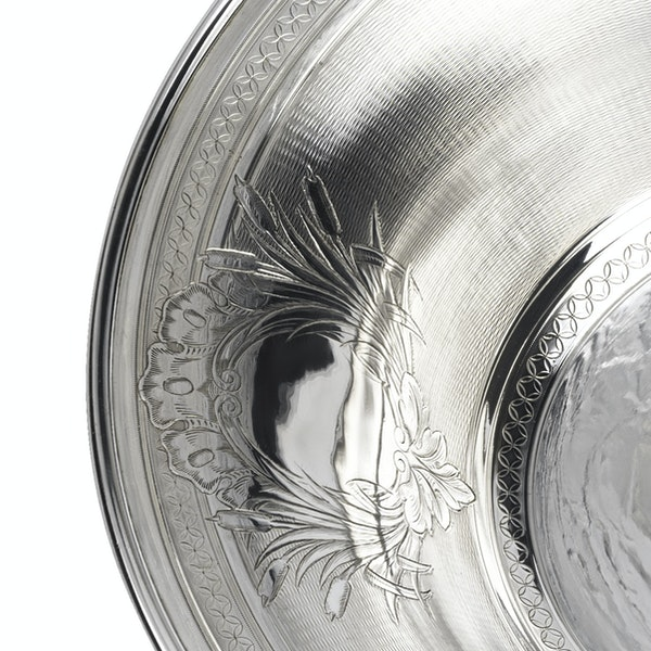 Large fine silver Jug and Bowl - image 9