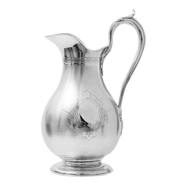 Large fine silver Jug and Bowl - image 4