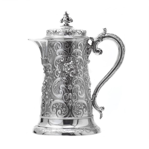 Silver tankard by Robert Hennell - image 2