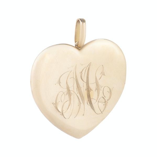 A Large Gold Heart Locket - image 3