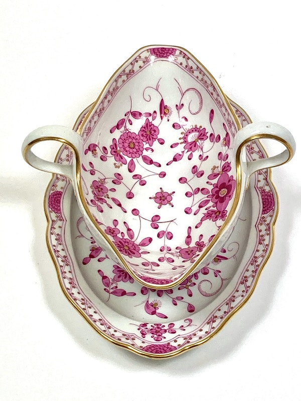 Meissen sauce boat and ladle - image 2