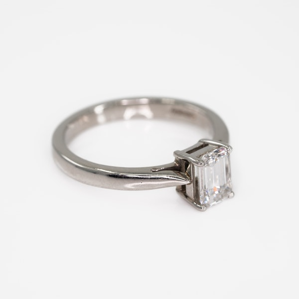 An Emerald Cut Diamond Solitaire Ring - image 2