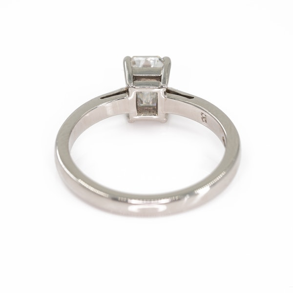 An Emerald Cut Diamond Solitaire Ring - image 4