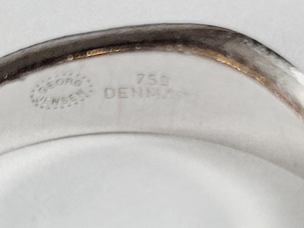 Paor of diamond Jorge Jensen 18ct white gold rings sku 5017  DBGEMS - image 4
