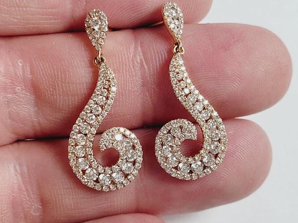 Modern diamond earrings sku 50  DBGEMS - image 2
