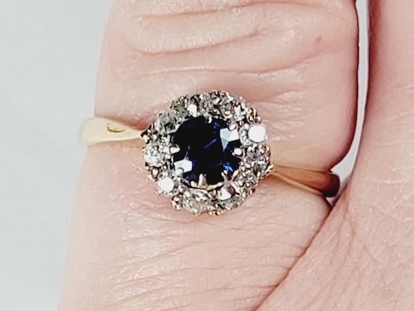 Antique sapphire and diamond engagement ring sku 50  DBGEMS - image 4