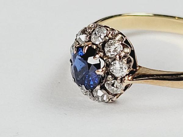 Antique sapphire and diamond engagement ring sku 50  DBGEMS - image 2