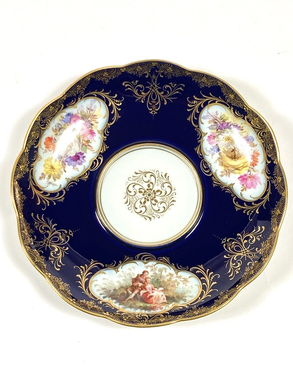 Meissen inkwell,cover and stand - image 8