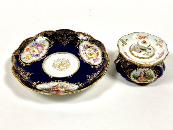 Meissen inkwell,cover and stand - image 3