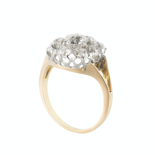 An Antique Diamond Cluster Ring - image 3