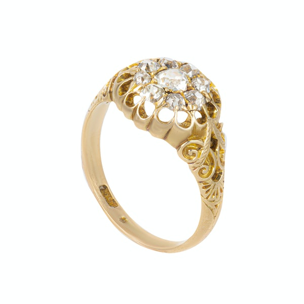 An Openwork top Diamond Cluster Ring - image 4