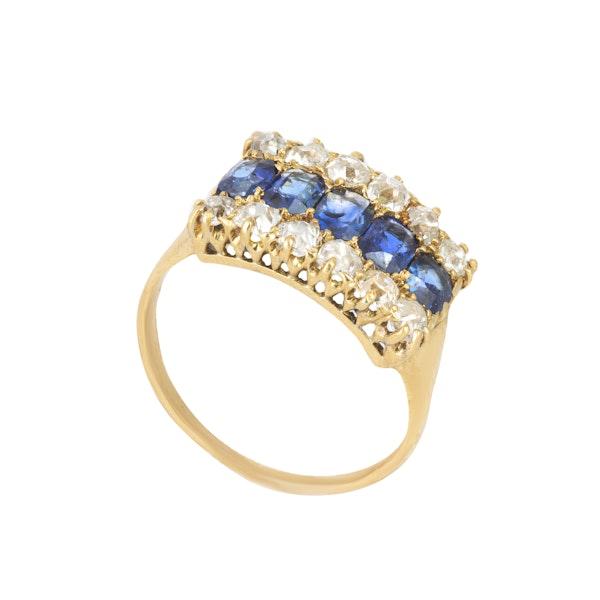 An Burma Sapphire & Diamond Ring - image 5