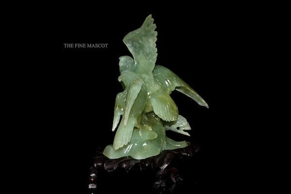 Carved jade beautiful birds sculpture - image 3
