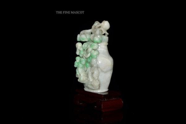 White jadeite monkey perfume vase - image 2