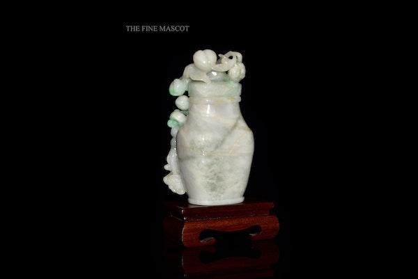 White jadeite monkey perfume vase - image 3