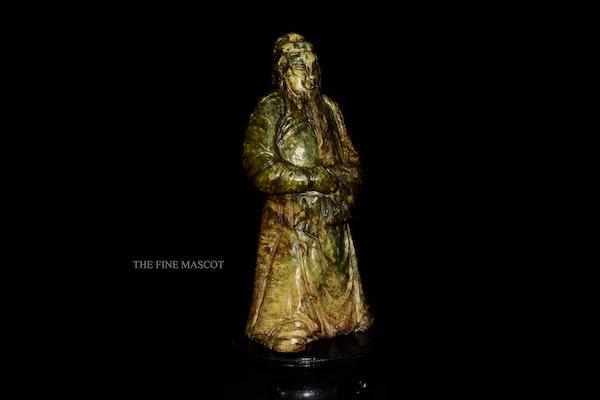 Large antique emperor jade statue - image 1