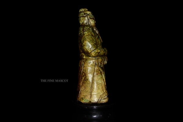 Large antique emperor jade statue - image 2